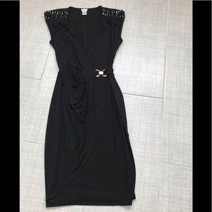 CACHE Black Midi Dress